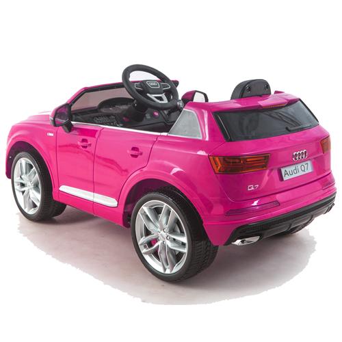 audi q7 quattro kinderauto kinderfahrzeug kinder elektroauto 2x motoren 12v pink ebay. Black Bedroom Furniture Sets. Home Design Ideas